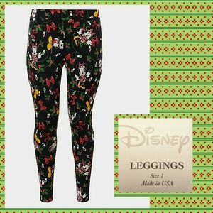 Torrid Mickey & Minnie Xmas Lights Leggings Sz 1X